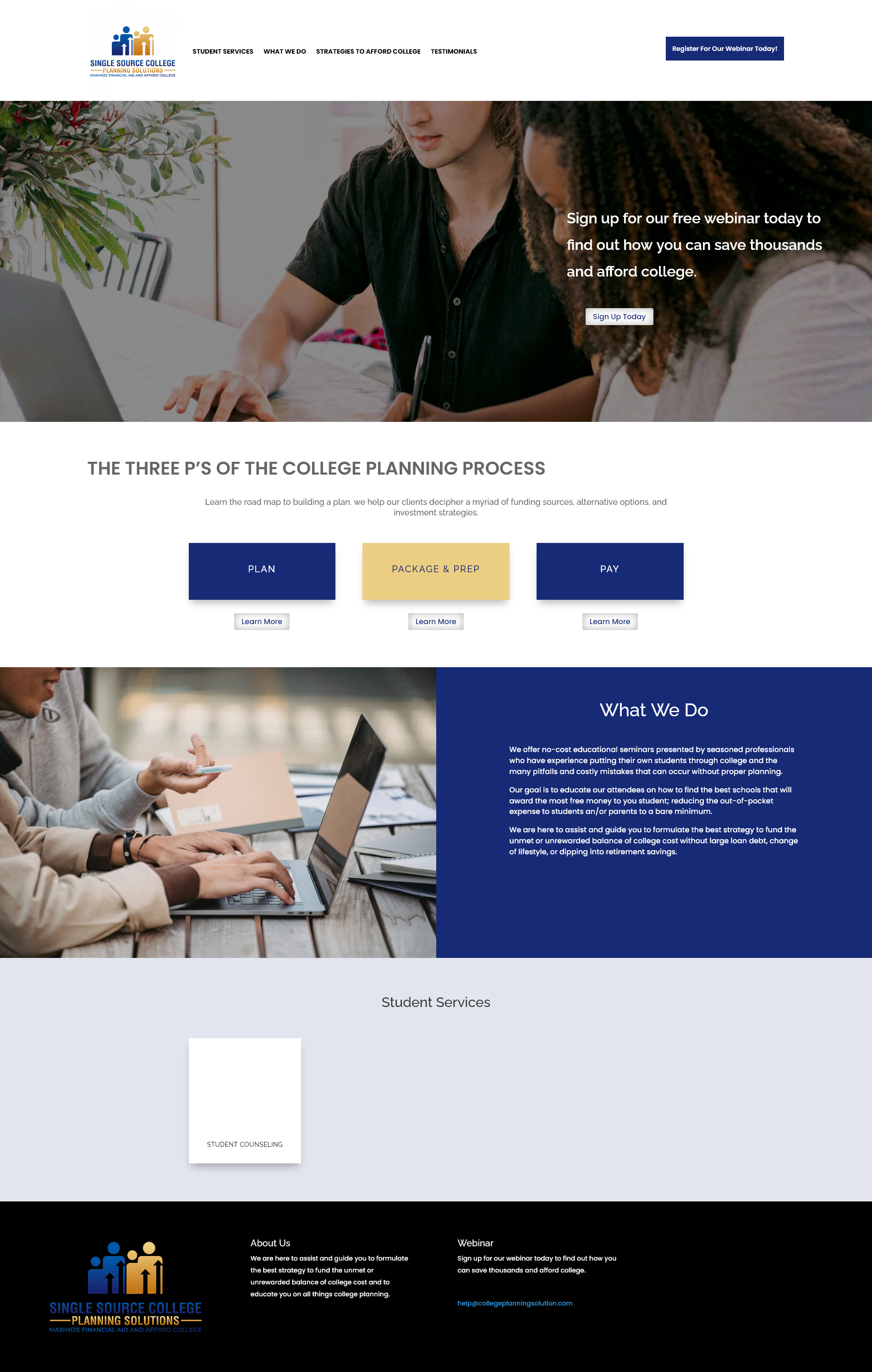 Financial Aid Planning Website